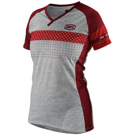 100% Airmatic Bike Jersey Shortsleeve Women grey/red